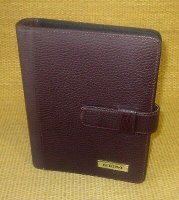 Classicdesk 1 Rings Burgundy Leather Day-timer Open Plannerbinder Franklin