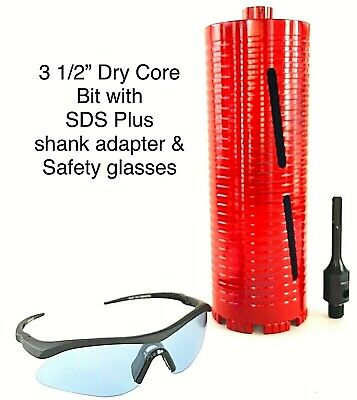 Sds Plus Shank Adapter With 3 12 Dry Core Bit For Use On Rotary Hammer Drill