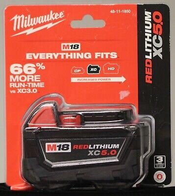 Milwaukee 48-11-1850 M18 Redlithium Xc 5.0 Battery Pack