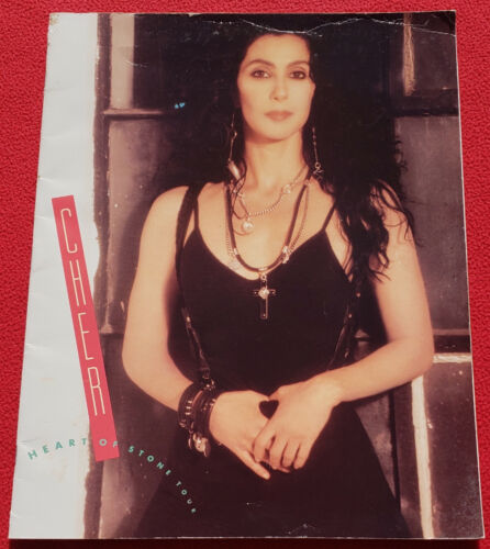 Cher 1989 Heart Of Stone Tour Concert Program With Attached Ticket - 25 Pages