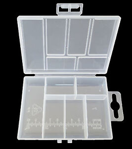 6 compartments jewelry beads screws crafts small storage for Craft storage boxes with compartments