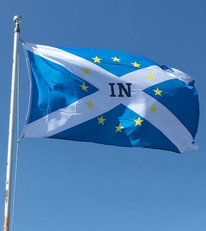 3 x 5ftx 3ft Scotland IN EU European Union Referendum Vote Flags