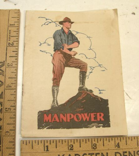 "POST WWI ""MAN POWER"" VENEREAL DISEASE VD PAMPHLET US PUBLIC HEALTH SERVICE"