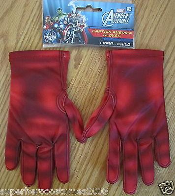 Captain America Handschuhe (The Avengers Captain America Kinder Handschuhe Marvel Comics Brandneu)