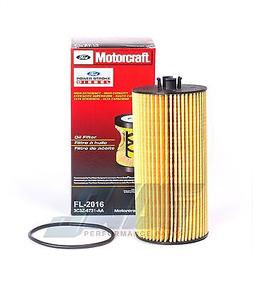 6.0L & 6.4L Powerstroke Diesel Genuine Ford Motorcraft OEM Oil Filter FL-2016
