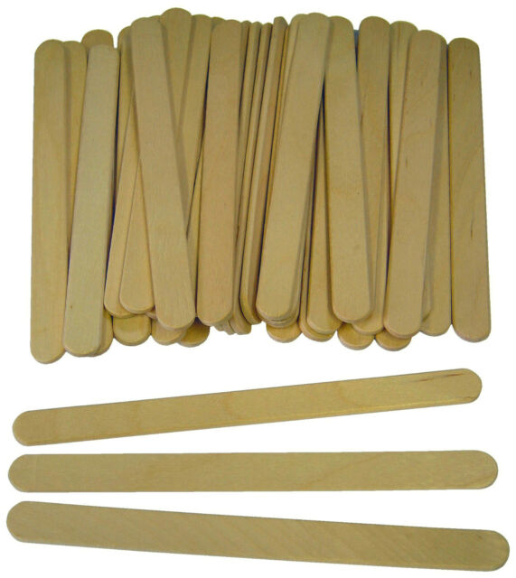 Lollipop lolly Wooden sticks Natural craft model making, ice lollies 100-6000
