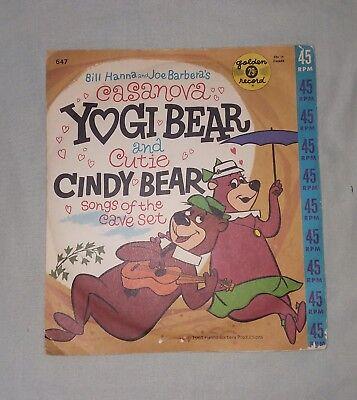 Vintage Hanna Barbera – Golden Record  Yogi Bear & Cutie Cindy Bear Record