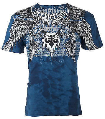 Affliction Mens T Shirt Birds Of Prey Tattoo Fight Biker Gym Mma Ufc S 4Xl  50 B