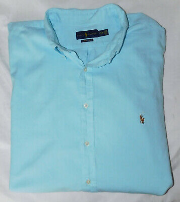 Men's Polo Ralph Lauren SS Chambray Oxford Button Down Shirt - Size 3XLT Tall