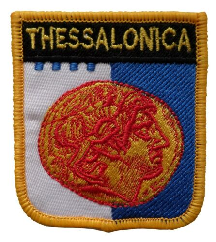 Thessalonica Greece Shield Embroidered Patch