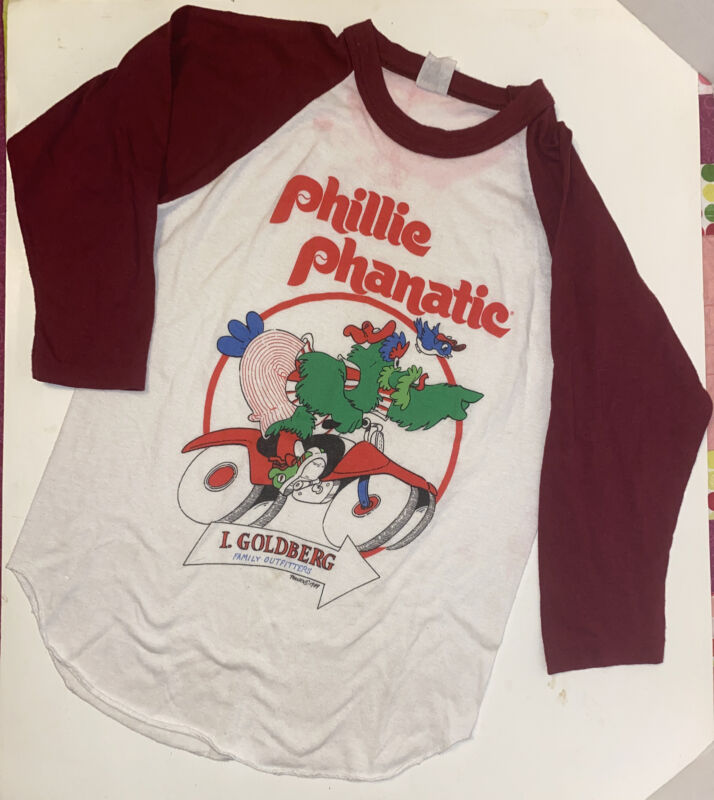 Vintage 1980s I. Goldberg Philadelphia Phillies Phanatic Kids XL 80s Shirt 1989