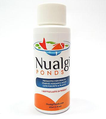 Controlling Algae Pond - Nualgi Ponds 60 ml Natural Algae Control & Water Clarifier, Promotes Fish Health