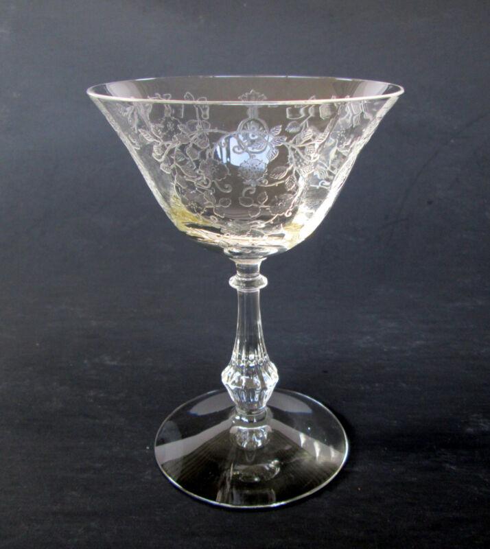 Fostoria Elegant Etched Glass Crystal Champagne Sherbet Stemware -  Arcady