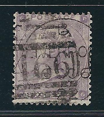 Great Britain Scott #39d (SG #85) - 6 pence Queen Victoria - Plate 4 - Used