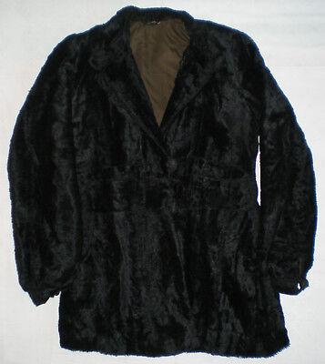 Vintage alt schwarzer Damen Winter Fell- Pelzmantel 36-38 S Jacke Theater Kostüm
