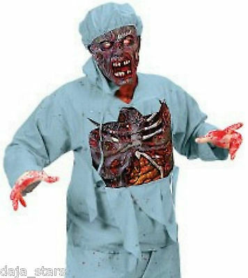 ★ Zombie Horror Arzt  3D Chirurg Doktor, Walking Dead Kostüm ,Maske S-XL Surgeon ()