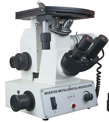 Radical 600x Inverted Metallurgical Reflected Light Microscope Cast Iron Stee...