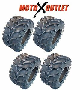 Kenda Bear Claw 25x8-12 25x10-12 ATV Tires Set of 4 Mud Front Rear Lite 6 Ply