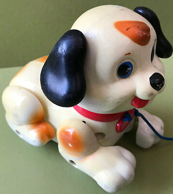 JOUET ANCIEN  A TIRER  : CHIEN PETIT SNOOPY FISHER-PRICE 1999 MATTEL