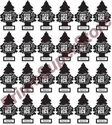 Lot Of New 24 Pack Little Trees Air Freshener Black ice Scen