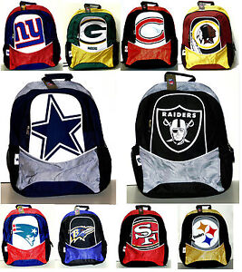 NFL-Licensed-Backpacks-Full-Size-Assorted-Teams-FREE-Priority-Mail