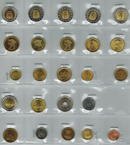 Egypt 24 Coins Uncirculated, King Tut, Cleopatra, Pyramids And More