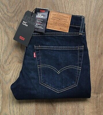 LEVIS PREMIUM 502 MENS W30 L32 REGULAR TAPER TAPERED BLUE JEANS LEVI STRAUSS !