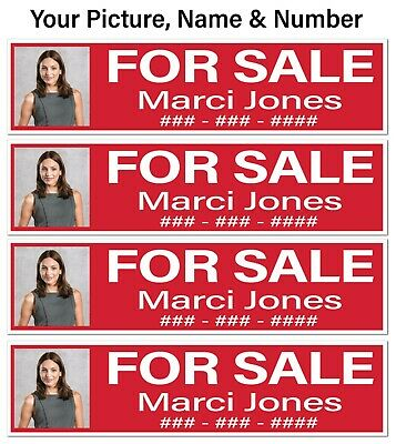 Real Estate Sign Riders For Sale Picture Name Number 9pk Free Shipping