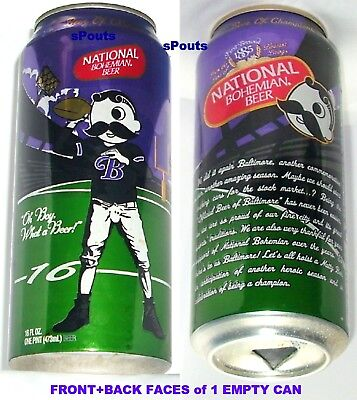 2013 MR.BOH NFL BALTIMORE RAVENS NATIONAL BOHEMIAN BEER CAN MD FOOTBALL MARYLAND](Baltimore Ravens Football)