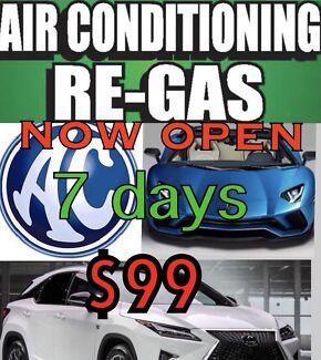 Wanted: Car aircon regas NOW OPEN