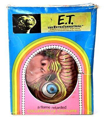 ET Extra-Terrestrial Collegeville Medium 8-10 yo Halloween Costume Vintage c561