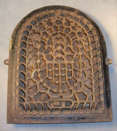 Antique Tuttle & Bailey Ornate Iron Arch-Cathedral Heating Register Vent Grate