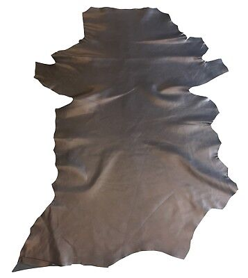 Black Genuine Leather Hides Upholstery Material Craft Bookbinding DIY Fabric 808 ()