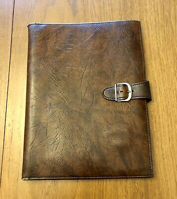 Vintage Rolfs Brown Leather Business Portfolio Document Holder Binder Notepad