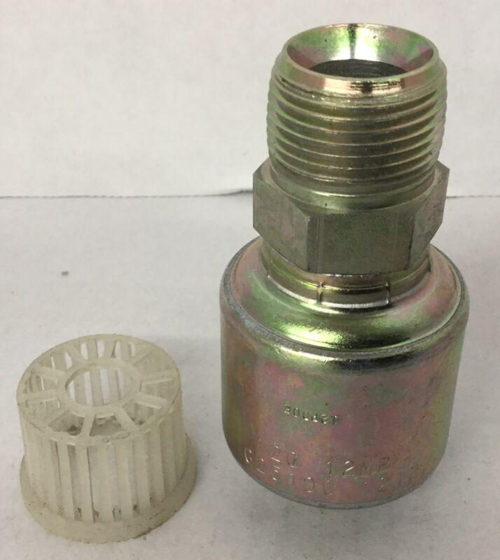 Gates 25100-1212 12G-12MP Male Pipe - NPTF Hydraulic Hose Fitting 251001212