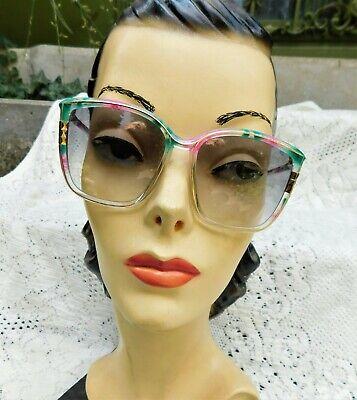 1980's Leonard Paris Modele Depose Sunglasses Eyewear Made France Vibrant Bold