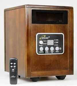 iLiving ILG-918 1500 Watt Infrared Portable Electric Space Heater (Quartz + PTC)