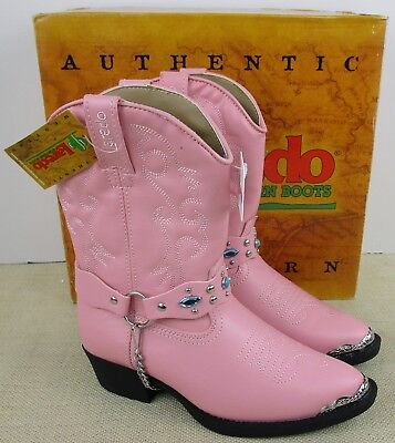 LAREDO 2212 KID'S PINK FASHION WESTERN COWGIRL BOOTS NEW IN - Childs Cowgirl Boots