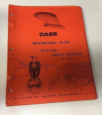 Case - Moldboard Plow - Bottoms - Parts Catalog - 804 - Manual