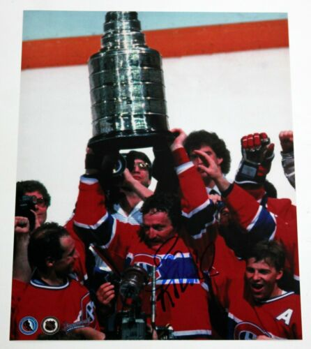 LARRY ROBINSON SIGNED 11x14 PHOTO MONTREAL CANADIENS HABS NHL HOF AUTOGRAPH COA