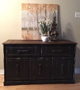 Solid Wood Rustic Sideboard/Hallway Console/Tv Stand/Coffee Bar