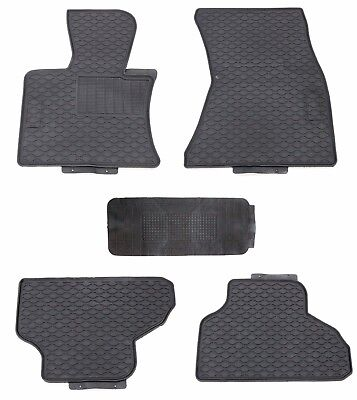 All Weather Black Rubber Floor Mats for 2014 2017 BMW X5
