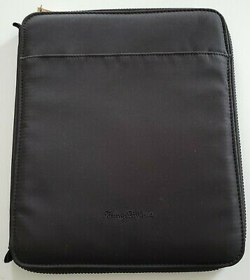 New - Tommy Bahama Cloth Business Portfolio Zippered - Notebook Binder Organizer
