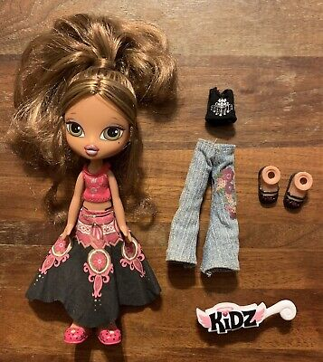 RARE Bratz Kidz Yasmin Doll with Extra Outfit Shoes Brush Pre-Owned EUC