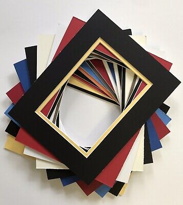 Double Mat for 8x10 Picture Frame. Holds 5x7 Photo.](Photo Mat)