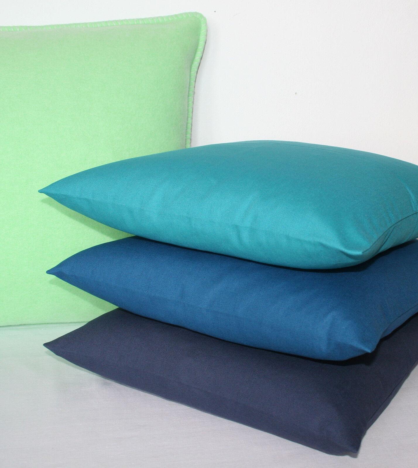 proflax kissen kissenh lle mira blau gr n 50x50 petrol. Black Bedroom Furniture Sets. Home Design Ideas