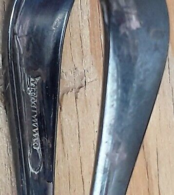 Vintage Pair Silver Plate Baby Spoons Community & WA Rogers Oneida Tarnished