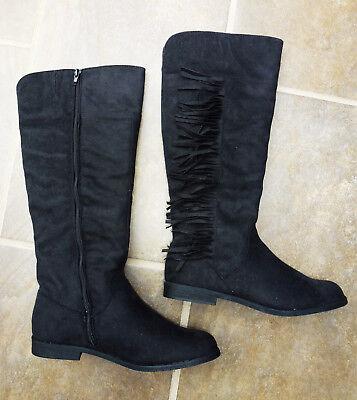 Citywalk Stiefel Gr.39 schwarz Fransen Damenstiefel NEU Damen Fransen Stiefel