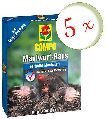Savings Set: 5 X Compo Maulwurf-Raus, 2 x 50 G
