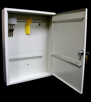 Key Organizer Cabinet Wall Mount Storage Metal Security Safe Box Home 80 Keys